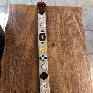 Other - Boys needlepoint leather bound belt